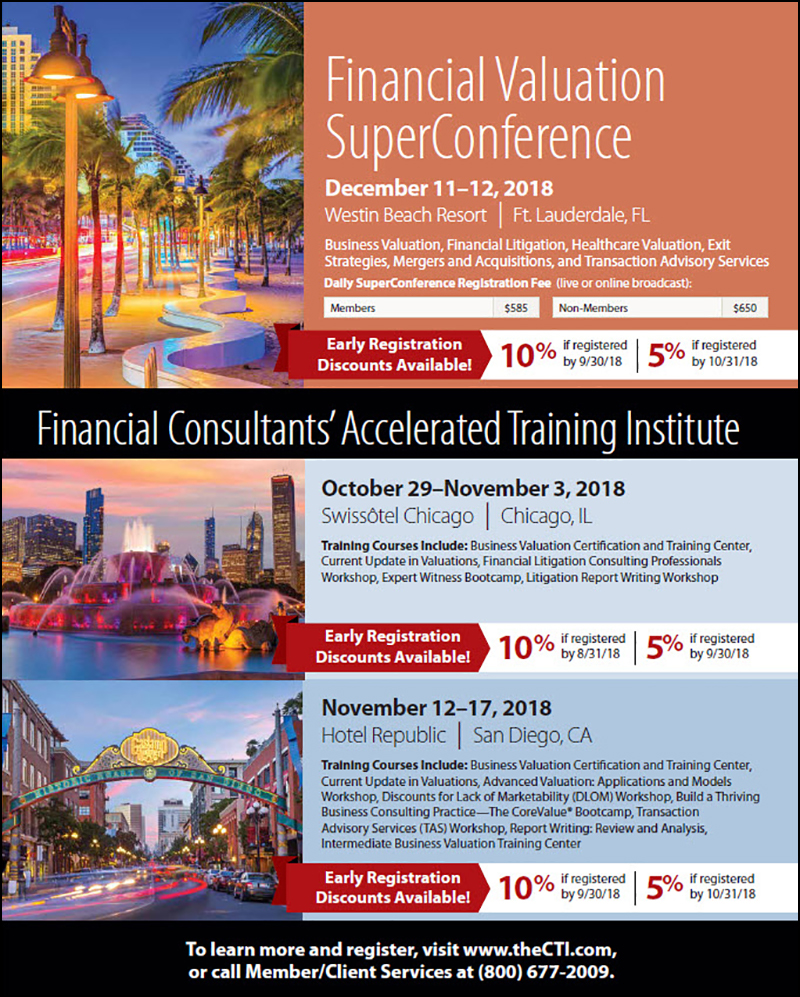 NACVA 2018 Specialty Conferences